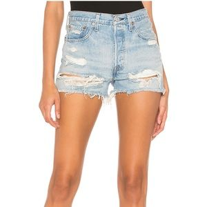 LEVI'S 501 High Rise Short in Fault Line
